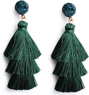 Best emerald green dangle earrings Reviews