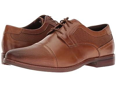 Rockport Style Purpose Perf Cap Toe (Cognac Leather) Men
