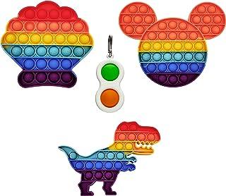 Pop It Fidget Toy Anti Stress Enfant et Adulte - Fidget Toys Pack Objet Anti Stress Anxiété - Popit Jeux Push Pop Bubble (...