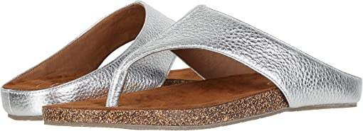 Silver Tumbled Leather