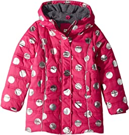 Metallic Dots Fleece Lined Puffer Coat (Toddler/Little Kids/Big Kids)