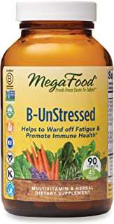 Sponsored Ad - MegaFood, B-UnStressed, Helps Ward Off Fatigue, Multivitamin and Herbal Supplement, Vegan, 90 Tablets