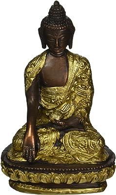 Lord Buddha in Bhumisparasha Mudra - Brass Statue