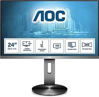 AOC I2490PXQU/BT 23.8-Inch Widescreen IPS LED Multimedia Monitor - Gunmetal
