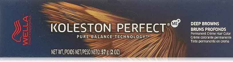 Wella Koleston Perfect Permanent Creme Hair Color, 6/71 Dark Blonde/Brown Ash, 2 Ounce