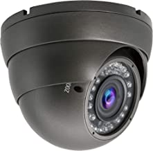 5MP 4MP Dome Super Hybrid Security Camera 1080P HD-TVI/CVI/AHD/960H CCTV Surveillance Security Camera 2.8-12mm Varifocal Lens Outdoor/Indoor 98ft IR Waterproof Day&Night Vision Dome Camera(Gray)
