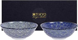 TOKYO design studio Nippon Blue 2-er Schalen-Set blau-weiß,