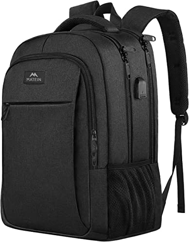 Laptop Backpack, Business Travel Backpack with USB Charging Port for Women & Men, Water Resistant College School Book...