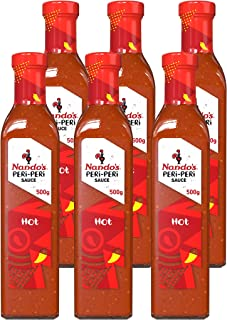 Nando's Hot Peri-Peri Sauce | Hot | No Artificial Colours Or Flavours | Gluten Free (Gf) | Halal | Vegetarian | 500G | Pac...