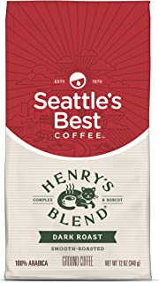 Seattle's Best Coffee Henry's Blend Dark Roast Ground Coffee, 12 Ounce (Pack of 1)