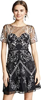 Marchesa Notte Women's Chiffon Dotted Tulle Cocktail Dress