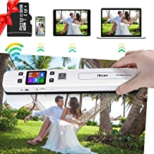 Portable Scanner Hollee WiFi Photo Scanner 300/600/1050 DPI Resolution Rechargeable Document Scanner Handheld A4 Color Pag... photo