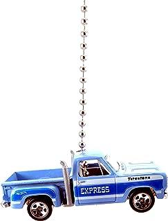 Hot Wheels Dodge Truck Ceiling Fan Light Pulls 1/64 (1978 Dodge Li'l Red Express Stepside BLUE)