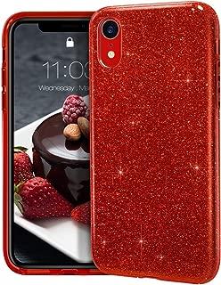 iphone xr red glitter case