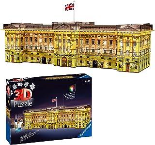 Buckingham Palace bei Nacht - 3D-Puzzle 216 Teile: Erleben Sie Puzzeln in der 3. Dimension