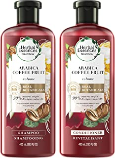 Herbal Essences, Shampoo (13.5 Fl Oz) and Paraben and Paraben Free Conditioner (13.5 Fl Oz) Kit, BioRenew Arabica Coffee Fruit, 1 Set