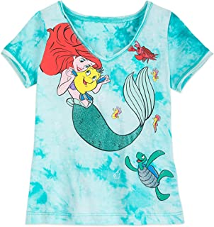 6//6X M DISNEY The little Mermaid Ariel T SHIRT SLEEVELESS  GIRL SIZE S 7//8