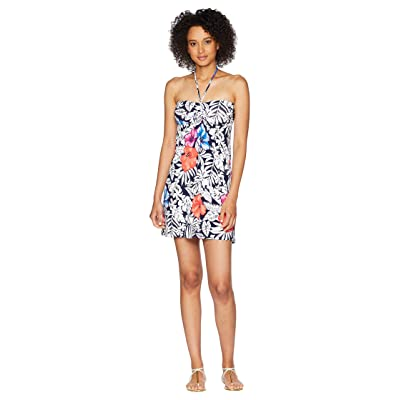 Tommy Bahama Fuego Floral Short Dress (Ocean Deep) Women