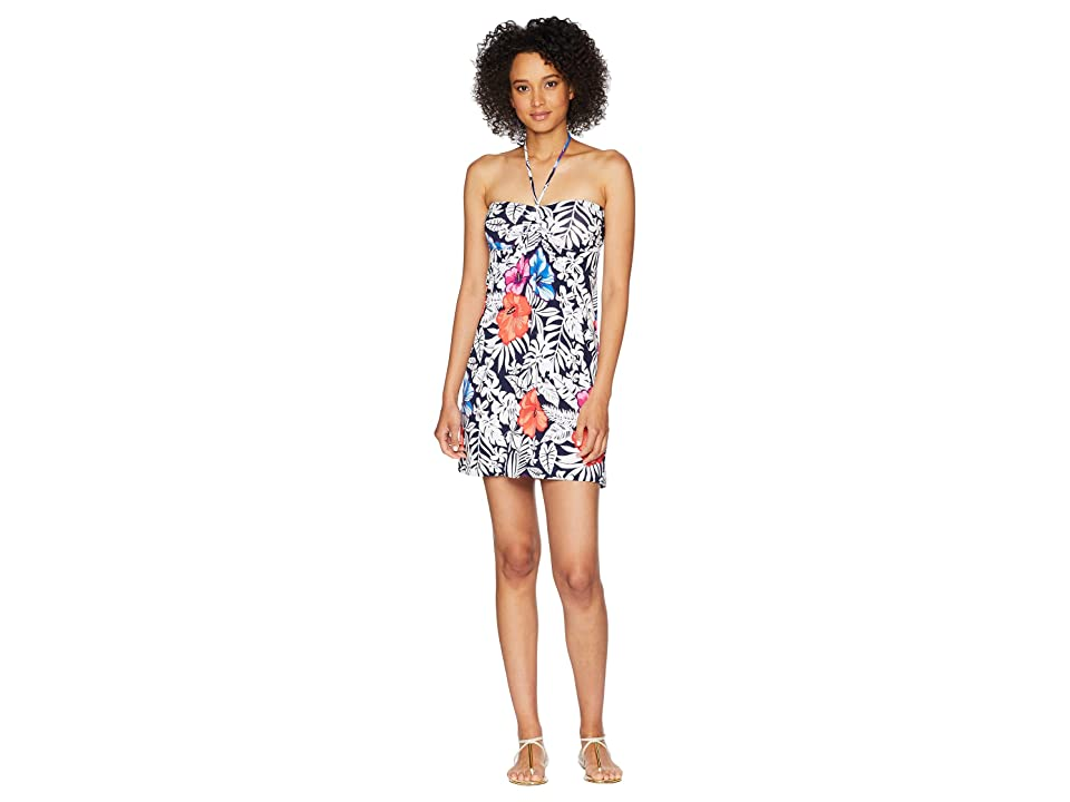 Tommy Bahama Fuego Floral Short Dress (Ocean Deep) Women