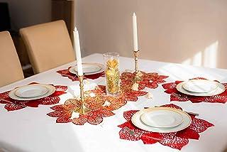 Chemin de Table imperméable Hyper Resistant Isotherme et décoratif en PVC idéal pour la décoration des Table de à la Maiso...