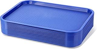 New Star Foodservice 24548 Plastic Fast Food Tray, Set of 12, 12 by 16-Inch, Blue