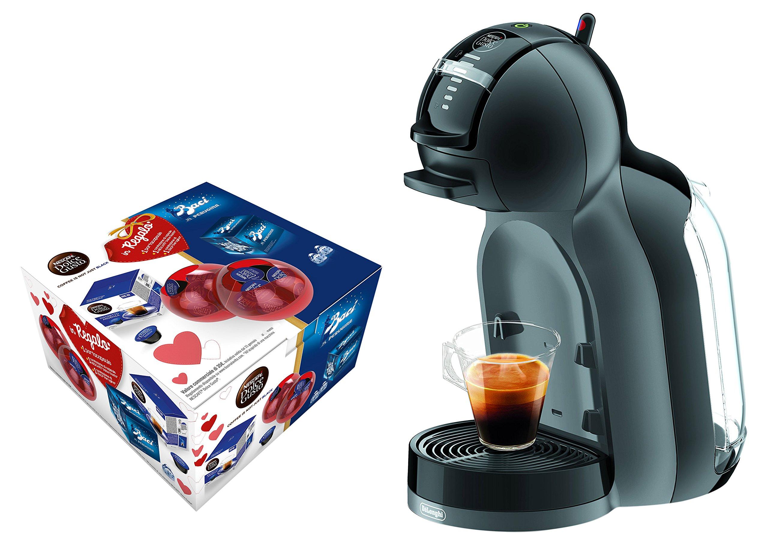 DeLonghi Mini Me EDG305.BG Valentino Independiente Máquina de café en cápsulas 0,8 L - Cafetera (Independiente, Máquina de café en cápsulas, 0,8 L, Cápsula de café, 1460 W, Negro, Gris): Amazon.es: Hogar