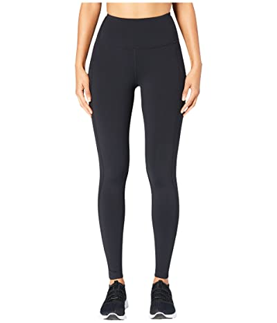 Core 10 Onstride Medium Waist Run 7/8 Crop Leggings (Black) Women