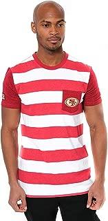 Ultra Game Men's NFL T-Shirt Stripe Pocket Short Sleeve Tee Shirt, San Francisco 49ers, Team Color, Large