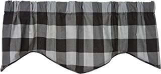 Buffalo Plaid Kitchen Curtains Valance Curtains Window Valences Kitchen Valances for Windows Modern Farmhouse Kitchen Decor Country Rustic Decor Grey Curtains Buffalo Check