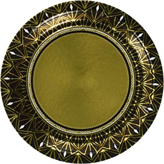 Amscan 541896 Party Supplies Glitz & Glam Metallic Round Plates, One Size, Multi Color