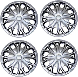 Pop-On Type Metallic Silver Wheel Covers Hub-caps Pack of 4 Hubcaps Tuningpros WC3-14-3523-S 14-Inches Style 3523 Snap-On