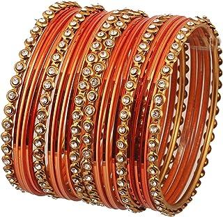 """تاتش ستون """"مجموعة ملونة"""" من سبائك بوليوود الهندية خط واحد شفاف حجر الراين وسوار لون مزخرف بلون ذهبي عتيق للنساء."""