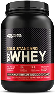 Optimum Nutrition Gold Standard 100% Whey Protein Powder, Extreme Milk Chocolate, 2 Pound (Packaging May Vary)