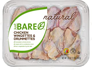 Just BARE Chicken Wingettes & Drummettes 2.0lb, All Natural Fresh Chicken