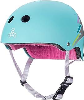 Triple Eight Helmet Sweatsaver کلاه دار مخصوص اسکیت بورد ، BMX و اسکیت رولر ، هولوگرام تیل ، کوچک / متوسط