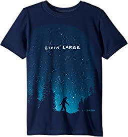 Life is Good Kids - Living Large Sasquatch Crusher Tee (Little Kids/Big Kids)