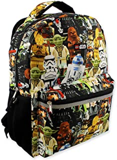 Lego Star Wars Boy's Girl's Adult 16 Inch School Backpack (One Size, Lego Star Wars)