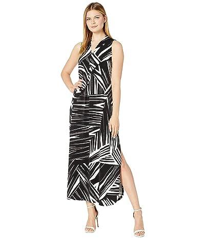 Tommy Bahama Bangle Stripe Maxi Dress Sleeveless (Black) Women
