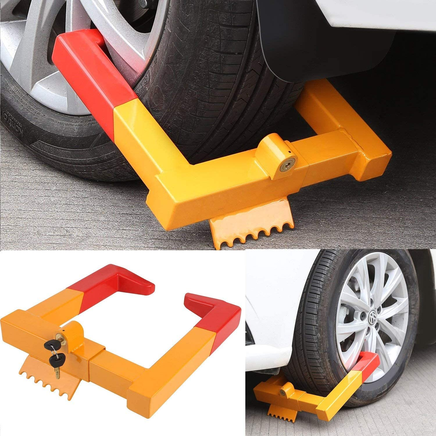 Car Wheel Lock 1 year warranty Anti New mail order Theft Claw Boot Parking Clamp Tire