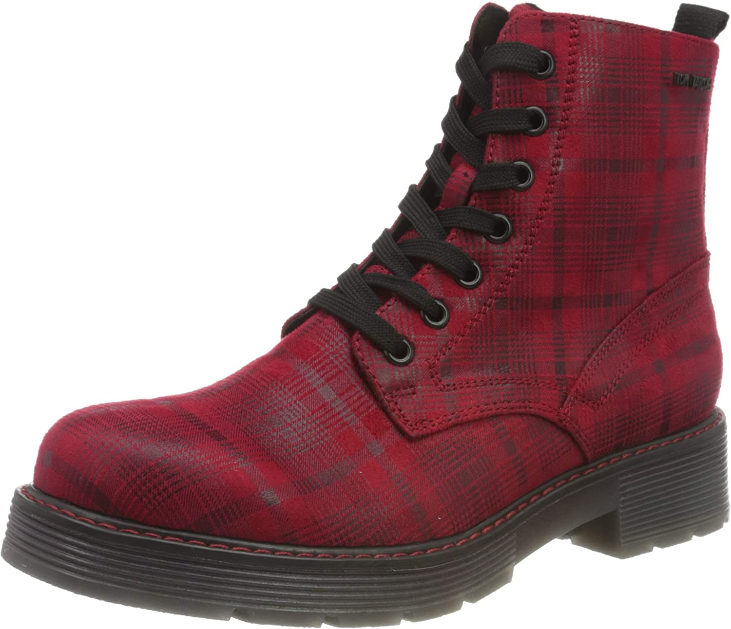TOM TAILOR Women's 9093509 Mid Calf Boot, Red, 7.5 us