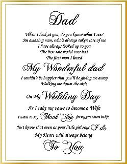 My Wonderful Dad On My Wedding Day- 8 x 10