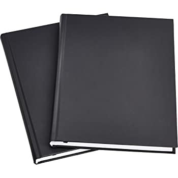AmazonBasics Professional Journal, 10.5X7.5 inches, Black, 2-Pack