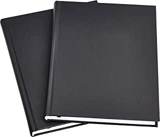مجله حرفه ای AmazonBasics ، 10.5X7.5 اینچ ، مشکی ، 2 بسته ای