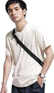 [ナノユニバース] BRING COVEROSS ロゴ Vネック Tシャツ メンズ
