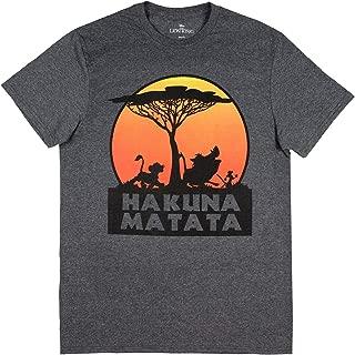 The Lion King Hakuna Matata Tree Silhouette Orange Sunset Men's T-shirt
