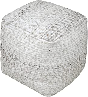 Uttermost 18 in. Square Wool Pouf in Gray