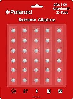 Polaroid Extreme AG4 LR66 377 376 LR626 SR626SW 177 1.5V Button Cell Alkaline Batteries No Mercury  0 Hg (30-Pack) - 2025 Expiry Date
