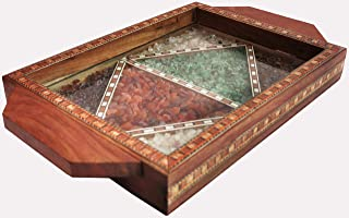 Serving Tray Made with Decorative & Elegant Crushed Gem Stones