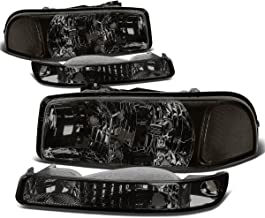 For GMC Sierra/Yukon GMT800 4Pcs Smoked Lens Clear Corner Headlight+Bumper Light