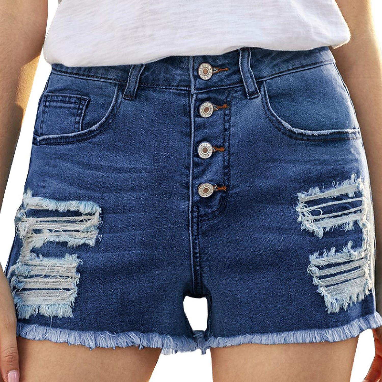 Women's Ripped Raw Max 58% OFF Max 77% OFF Edge Denim Shorts Trend Fashion W High Frayed